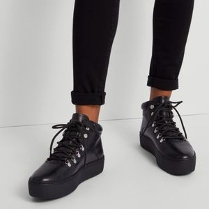 Vagabond Shoemakers Jessie Hiker Boot in Black Leather